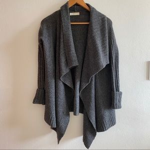 Abercrombie & Fitch Asymmetrical Gray Cardigan
